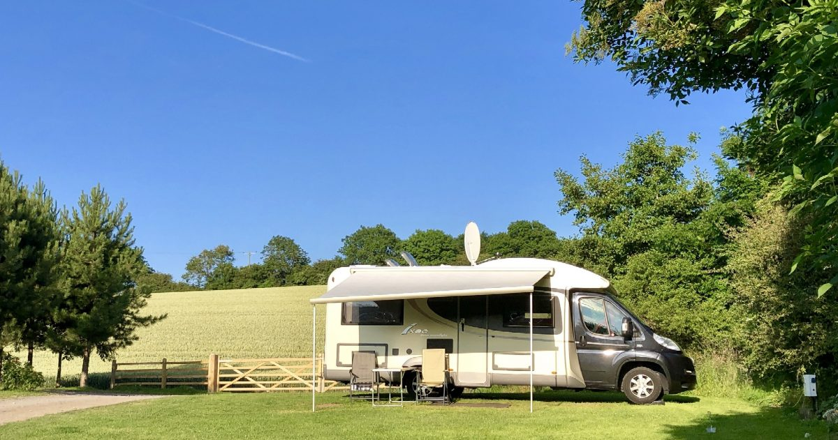 Motohome pitches at Strawberry Hill Farm Camping & Caravan Park