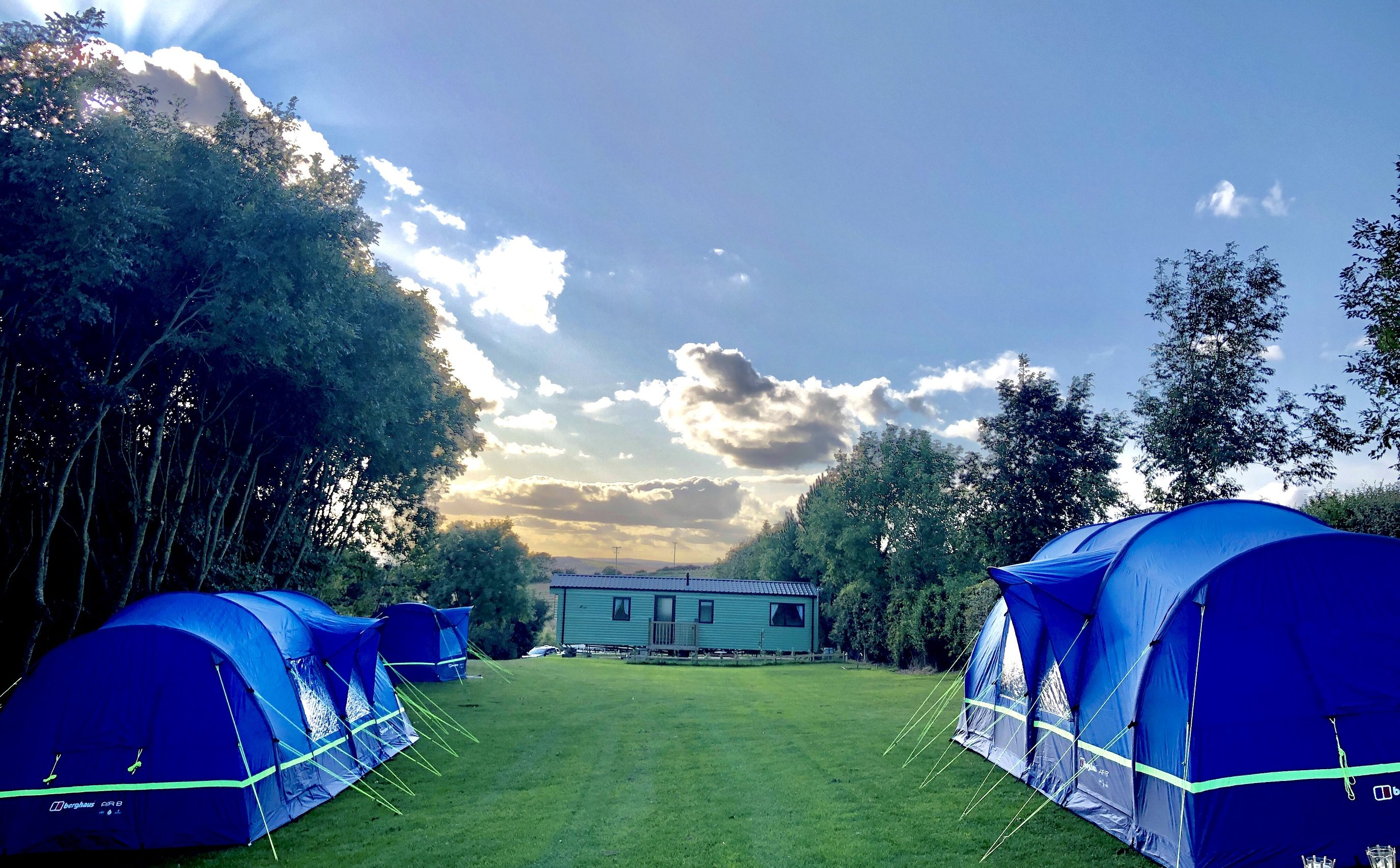 Family Camping pitches at Strawberry Hill Farm Holiday Park, North East